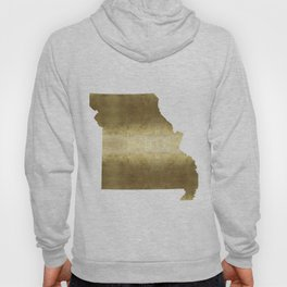 missouri gold foil state map Hoody