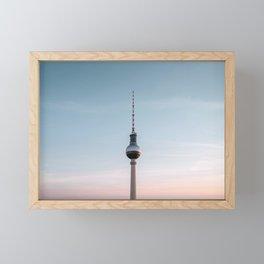 Minimal Berlin Framed Mini Art Print