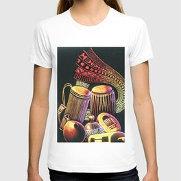 African Musical Instrument Collection T-shirt