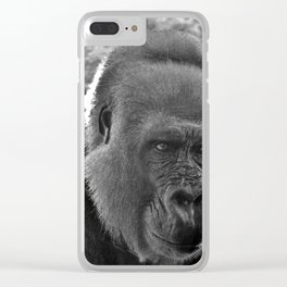 Gorilla Head Shot Clear iPhone Case