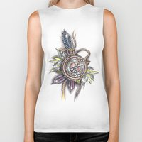 compass Biker Tanks featuring Compass by byfgal