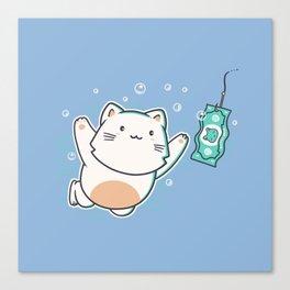 Nevermind Cat Canvas Print