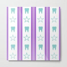 Tooth Fairy #10 - Teeth & Stars Metal Print