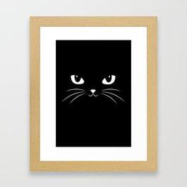 Cute Black Cat Framed Art Print