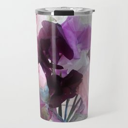 Sweet Peas & Carnations. Travel Mug