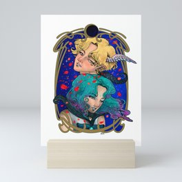 Haruka and Michiru - Sailor Moon Fanart - Sailor Uranus and Sailor Neptune Mini Art Print