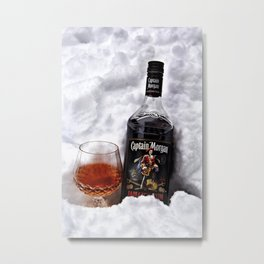 Ice Cold Captain Morgan Metal Print