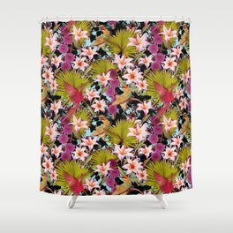 tropical lilly Shower Curtain