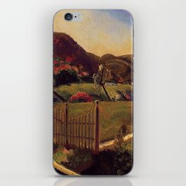White Picket Fence - Mountain House by George Wesley Bellows iPhone Skin