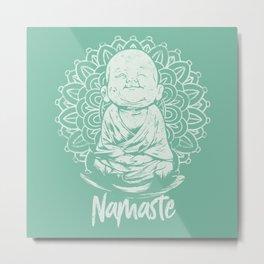 Namaste Buddha Mandala Metal Print