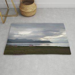 Watercolor Landscape, Grundarfjordur 03, Iceland Rug