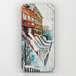 Brooklyn New York In Snow Storm iPhone Skin