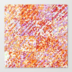 Orange & Lavender Delight - Squares Canvas Print