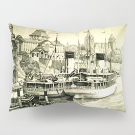 THE HARBOUR IN GREYS Pillow Sham