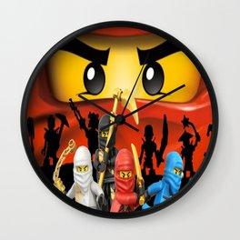 Lego Ninjago Wall Clock