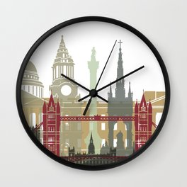 London skyline poster Wall Clock