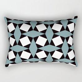 Geometric Pattern #188 (gray squares) Rectangular Pillow