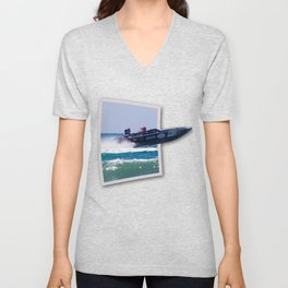 Offshore Addiction Speeds Out Of Frame Unisex V-Neck