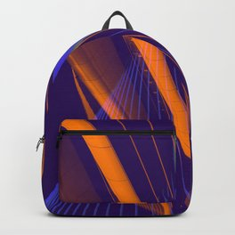 curved lines in architecure Backpack