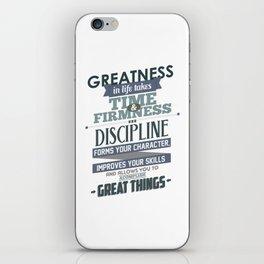 Nine Noble Virtues - Discipline iPhone Skin