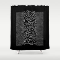 joy division Shower Curtains featuring Joy Division 2 by NoHo