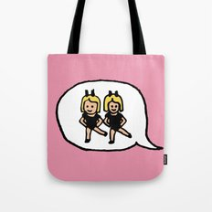 Hand-drawn Emoji - Two Women Dancing Tote Bag