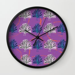 Colourful peacock Wall Clock