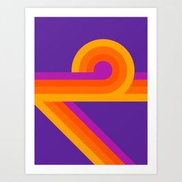 Purple Looper Art Print