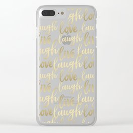 Live Laugh Love II Clear iPhone Case