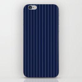 Navy Blue Pinstripes Line iPhone Skin
