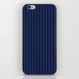 Navy Blue Pinstripes Lines Stripes Minimal Stripe Line iPhone Skin