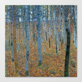 Gustav Klimt - Beech Grove I - Forest Painting Canvas Print