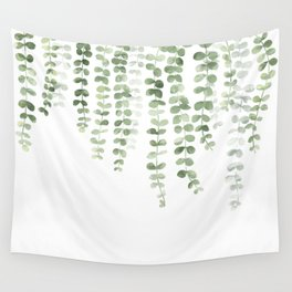 Eucalyptus Watercolor Wall Tapestry