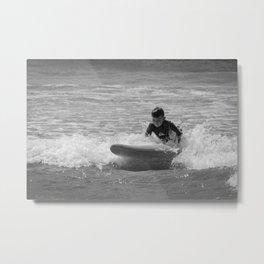 Grom Surfing Metal Print