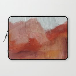 Desert Journey [2]: a textured, abstract piece in pinks, reds, and white by Alyssa Hamilton Art Laptop Sleeve