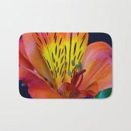 Single Alstroemeria Inca Flower-1 Bath Mat