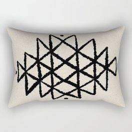 Tribal aztec black line 1 Rectangular Pillow