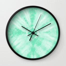 Tie Dye Mint Wall Clock