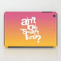 u2 iPad Cases featuring Sweetest Thing by Rahma Projekt
