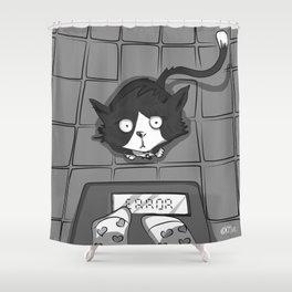 Illustration Black&white Shower Curtain