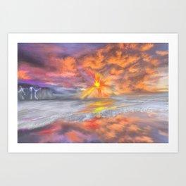 Peekaboo Sunset at the Pacific Art Print