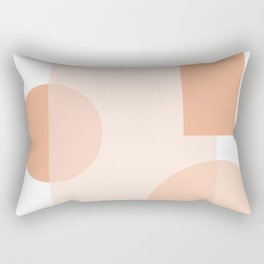 Minimal Abstract Modern Design Terracortta Orange Rectangular Pillow