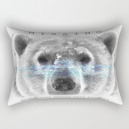 Polar Bear MISSING Rectangular Pillow