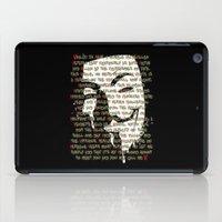 vendetta iPad Cases featuring Vendetta 1.0 by Sberla