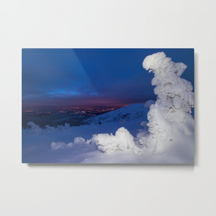 Winter in the Giant Mountains Metal Print