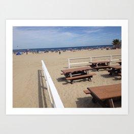 Beach Picnic Art Print