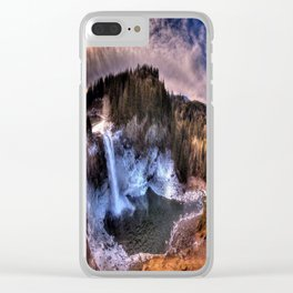 Waterfall from sky view Clear iPhone Case