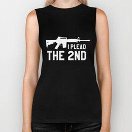 I Plead the Black Small through Gun hunt Biker Tank