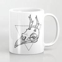 antler Mugs featuring Antler Bird by HATCH