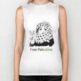Freedom for Palestine Biker Tank